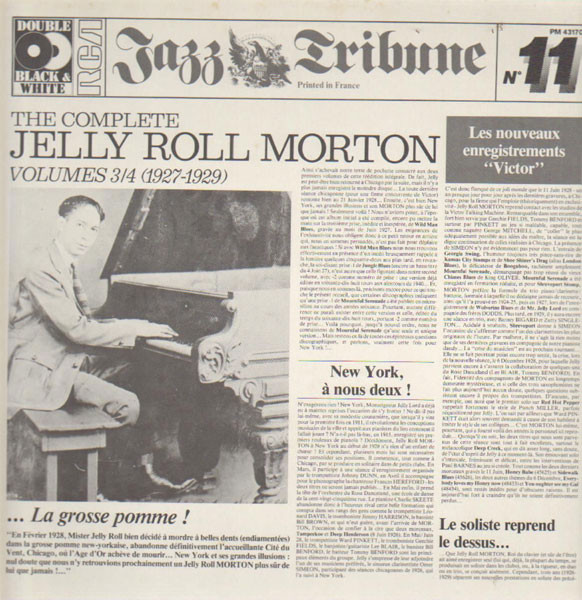 Jelly Roll Morton - The Complete Jelly Roll Morton Jelly Roll Morton - The Complete Jelly Roll Morton Volumes 3/4 (1927-1929) (Vinyl)